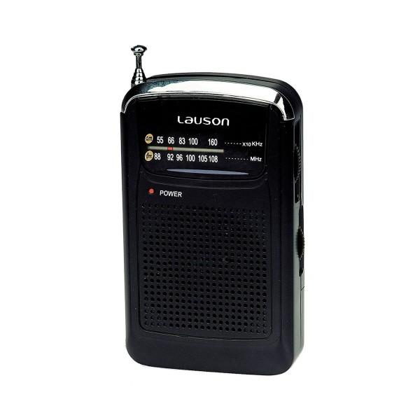 Lauson ra 114 radio am/fm portátil con auriculares o altavoz
