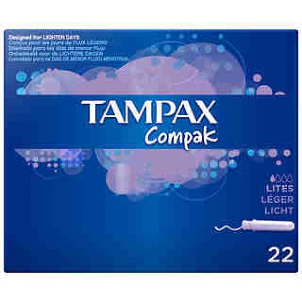 Tampax compak lites 22uni.