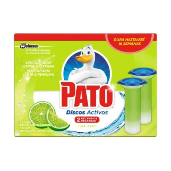 Pato WC discos activos 4 en 1 lima fresca recambio caja 2u.
