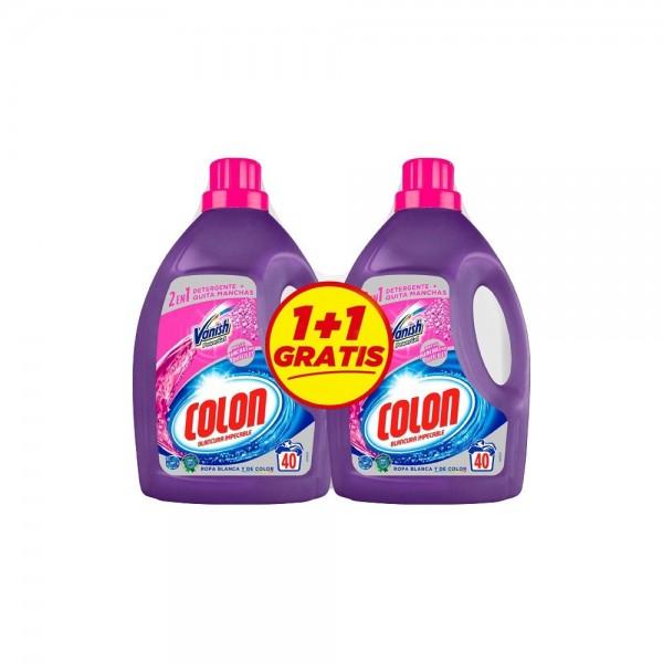 Colon Detergente Gel vanish 40 lav.  2x1 gratis
