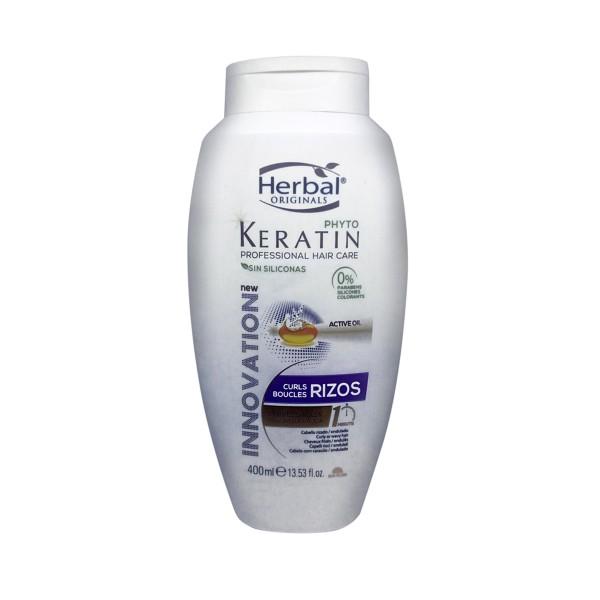 Herbal originals phyto keratin professional hair care rizos express mascarilla 400ml
