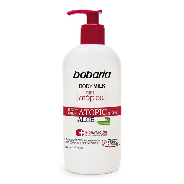 Babaria body milk piel atopica aloe leche corporal 400ml
