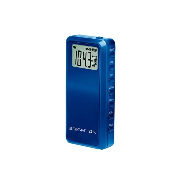 Brigmton bt123 azul radio am/fm portátil 60 presintonias temporizador de apagado