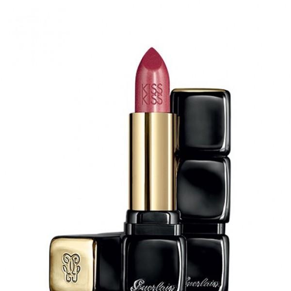 Guerlain kiss kiss barra de labios 343 sugar kiss + brillo de labios + colorete