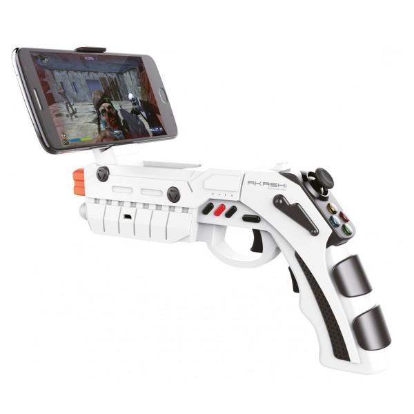 Akashi pistola videojuegos bluetooth blanca para smartphone