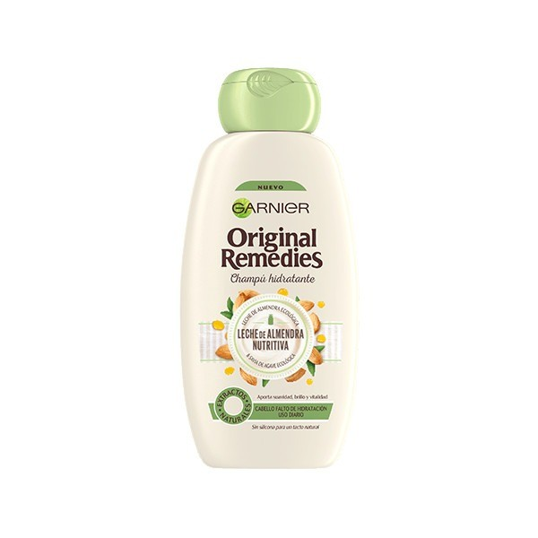 Garnier ORIGINAL REMEDIES Champú Leche de Almendras 300 ml