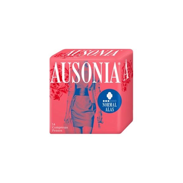 Ausonia air dry compresas normal con alas 14un