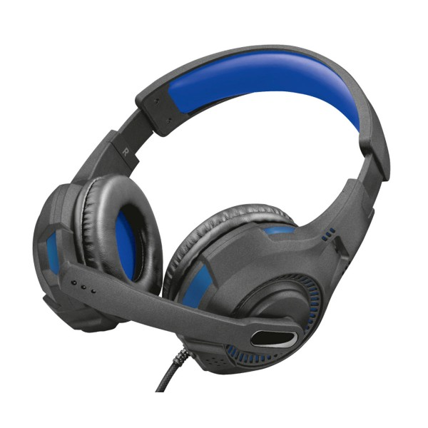 Trust gxt370b azul auriculares ravu gaming headset con micro