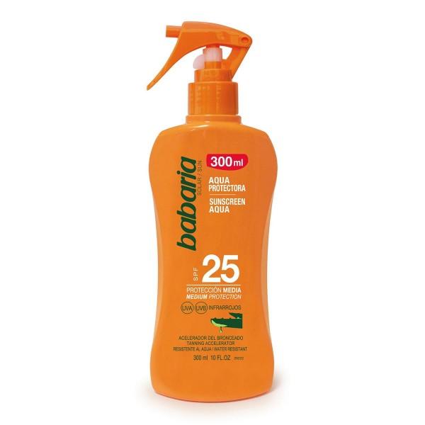 Babaria aloe vera aqua protectora spf25 proteccion media spray 300ml vaporizador