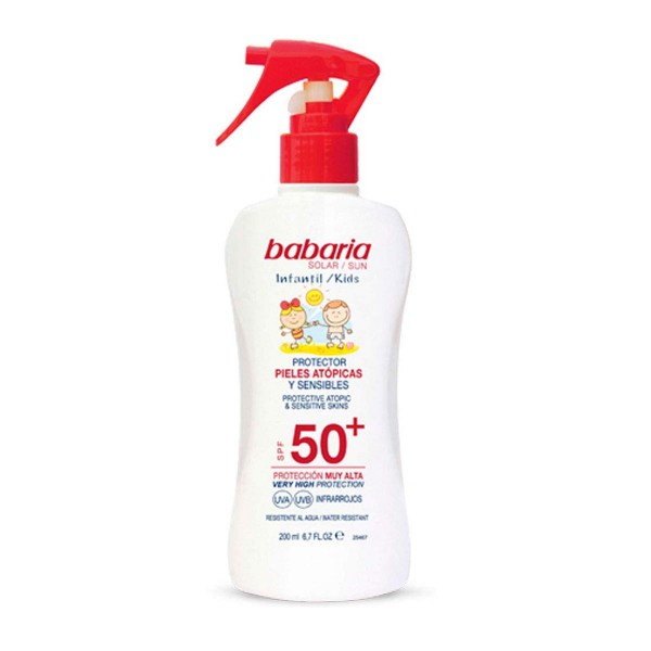 Babaria infantil spray pieles atopicas spf50+ 200ml