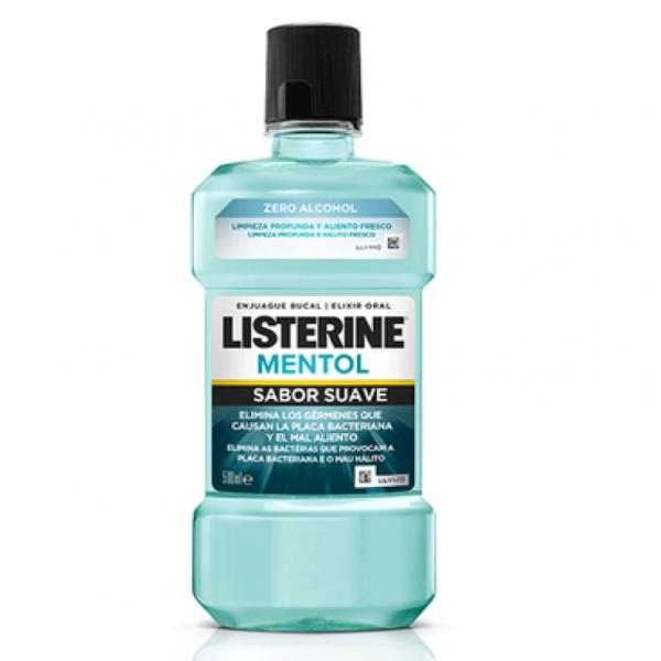 LISTERINE enjuague sabor suave mentol (ZERO) 500ML