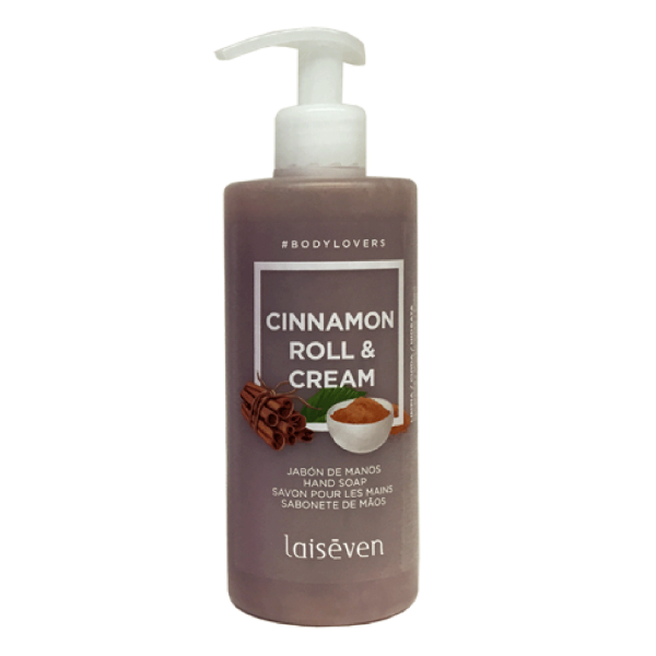 Laiseven jabón de manos Cinnamon Roll & Cream 400 ml