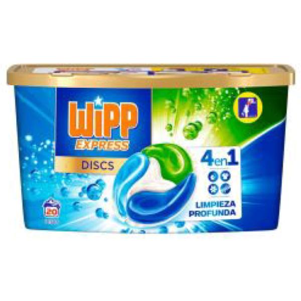 Wipp Express detergente Cápsulas 20 lavados