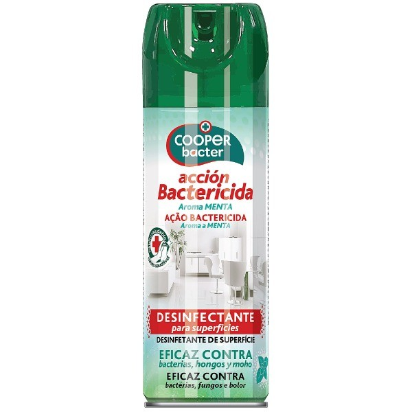 CooperBacter desinfectante para superfícies Menta 200 ml