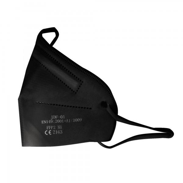 Mascarilla ffp2 5 capas negra. 50 Unidades