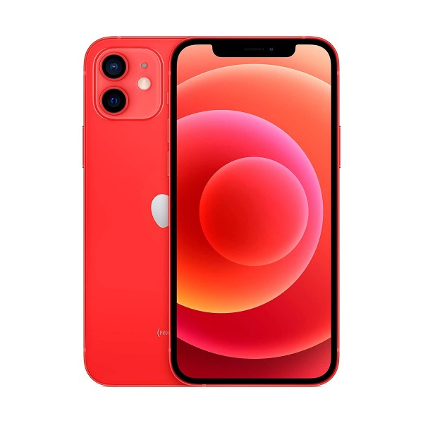 Apple iphone 12 rojo móvil dual sim 5g 6.1'' oled super retina xdr cpu a14 bionic 64gb 6gb ram dualcam 12mp selfies 12mp