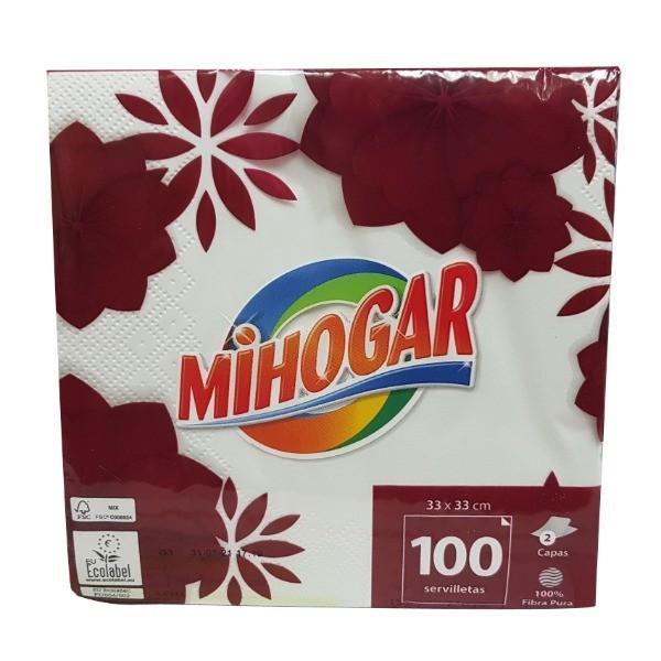 Mihogar servilletas blancas 100 uds