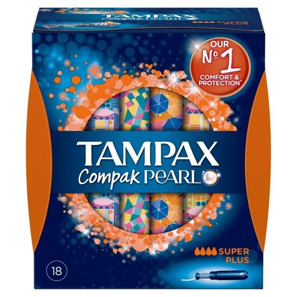 TAMPAX COMPAK PEARL SUPER PLUS 16 TAMPONES